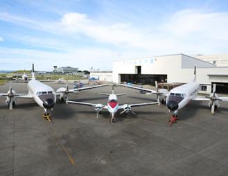 国内唯一の大型機(YS-11)で実習できる設備